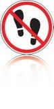 знак отпечатка ботинка запретительный Стоковые Изображения RF