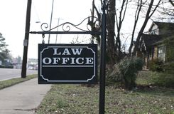Знак офиса юридической фирмы Стоковые Фото
