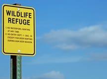 Знак охраняемой природной территории Стоковые Изображения