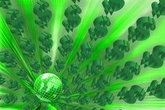 Знак доллара на зеленом цвете. Стоковое Изображение