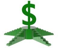 знак доллара 3D на подиуме Стоковое Изображение