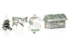 Знак доллара Origami Стоковая Фотография