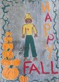 знак падения счастливый деревянный Стоковое фото RF