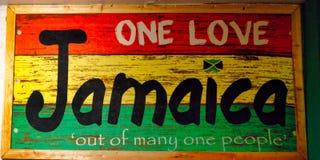 Знак памяти Jamacia красочный стоковое изображение