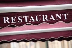 Знак Париж ресторана Стоковые Изображения RF
