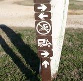 Знак парка и кемпинга Стоковые Фотографии RF