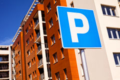 Знак парка Sinlge Стоковое фото RF