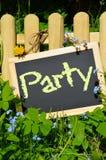 Знак партии лета деревянный Стоковое Изображение