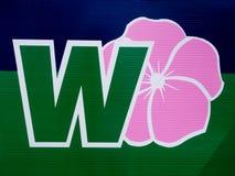 знак партии розовый одичалый Стоковое фото RF