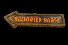 Знак партии хеллоуина Стоковая Фотография