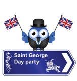 Знак партии дня Джордж Стоковая Фотография