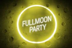 Знак партии Fullmoon Стоковое Изображение