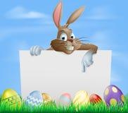 Знак пасхальных яя шоколада Стоковые Изображения RF