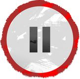 знак перерыва grunge Стоковое фото RF