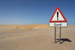 Знак песка Стоковая Фотография RF
