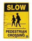 знак пешехода скрещивания Стоковое Изображение RF