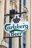 Знак пива Карлсбурга Стоковые Фото
