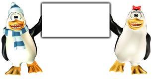 знак пингвинов Стоковое Изображение RF