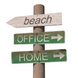 знак пляжа деревянный иллюстрация штока