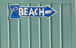 знак пляжа к Стоковое Изображение