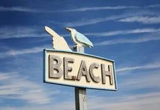 знак пляжа Стоковая Фотография RF