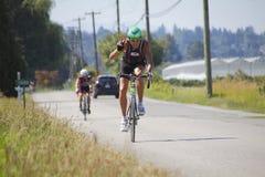 Знак победы велосипедиста GranFondo Стоковые Изображения