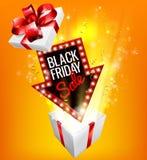 Знак подарка черной продажи пятницы exciting Стоковое Фото