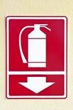 знак пожара гасителя Стоковое Изображение RF
