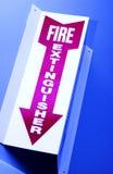 знак пожара гасителя Стоковое Фото