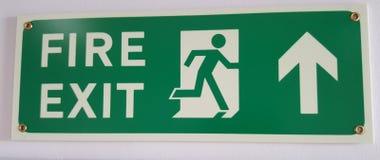 Знак пожарного выхода Стоковое фото RF
