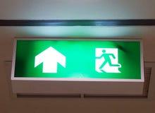 Знак пожарного выхода Стоковые Изображения RF