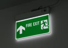 Знак пожарного выхода Стоковые Изображения