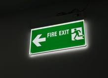 Знак пожарного выхода Стоковая Фотография