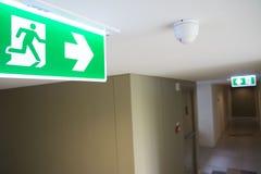 Знак пожарной лестницы стоковая фотография