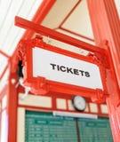 Знак показывая где вы можете купить билеты Стоковая Фотография