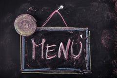Знак показывая меню Стоковое Изображение