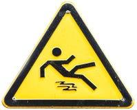 Знак пола предосторежения влажный Стоковое Фото