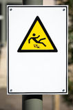 Знак пола предосторежения влажный Стоковые Фотографии RF