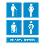 Знак посадочных мест приоритета бесплатная иллюстрация