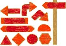 знак поцарапанный дорогой деревянный Стоковое Фото