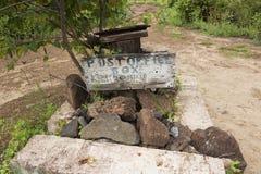 Знак почтового отделения на острове Floreana Стоковые Изображения