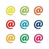 знак почты e Стоковые Изображения