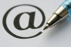 знак почты e Стоковые Фото