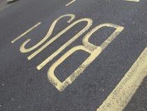 Знак полосы для движения автобусов Стоковое Изображение RF