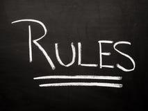 Знак правил стоковые изображения