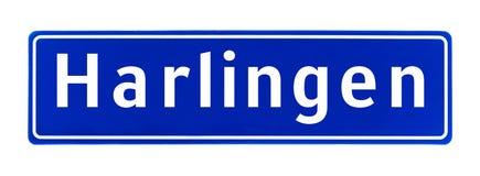 Знак предела города Harlingen, Нидерландов стоковое изображение rf