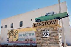 Знак пределов города Barstow стоковые фото