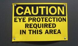 Знак предосторежения: Предохранение от глаза Стоковые Фото