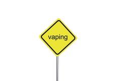 Знак предосторежения vaping Стоковые Изображения RF