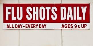 знак прививок от гриппа Стоковое Изображение RF
